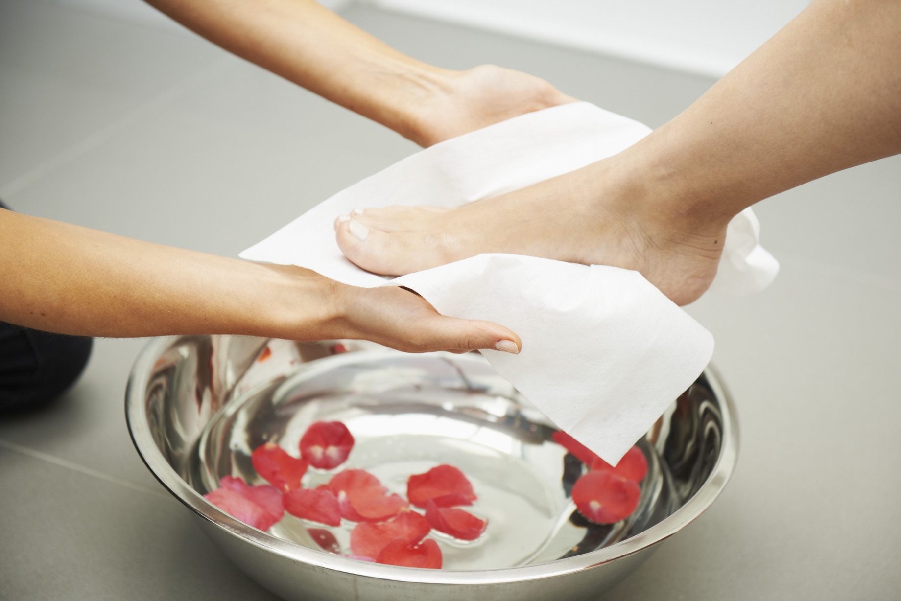 Easydry Disposable Small Towel being used for a manicure